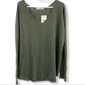 NWT Free People We the Free Green Army Tunic Shirt